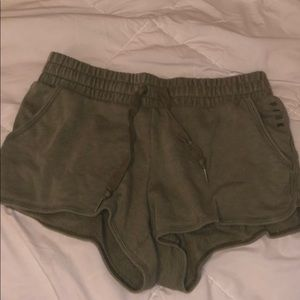 PINK Olive green shorts